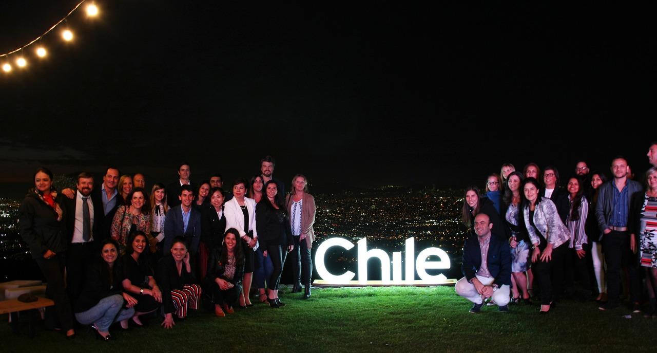 Imagen del grupo de representantes de la industria privada y pública del turismo que participó de Expedition Chile 2018