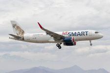 Imagen del avión de la línea Jetsmart