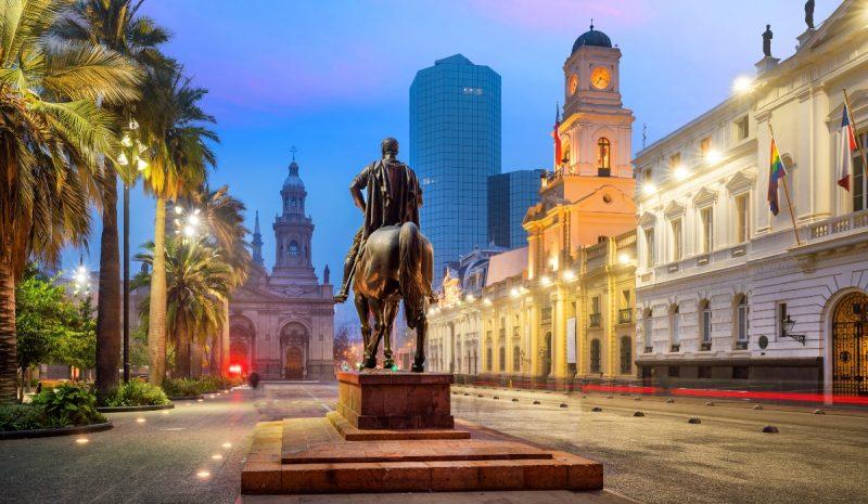 Imagen del centro histórico de Santiago