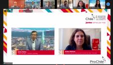 Fotografía de reunión virtual con distintos integrantes del encuentro virtual