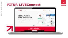 Imagen de un computador con el escritorio en la página web de Fitur LiveConnect 2021