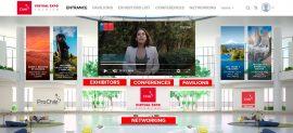 vista de plataforma feria virtual con directora nacional exponiendo