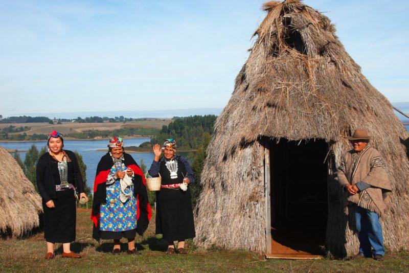 fotografía personas mapuche