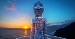 fotografía escultura de momia de chinchorro