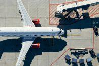 fotografía aérea de aviones