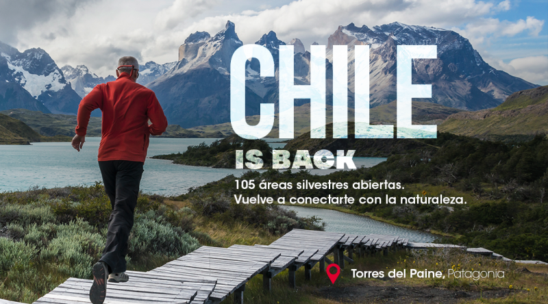 gráfica chile is back torres del paine